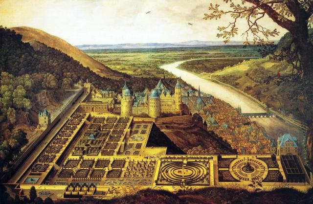 Hortus_Palatinus_und_Heidelberger_Schloss_von_Jacques_Fouquiere